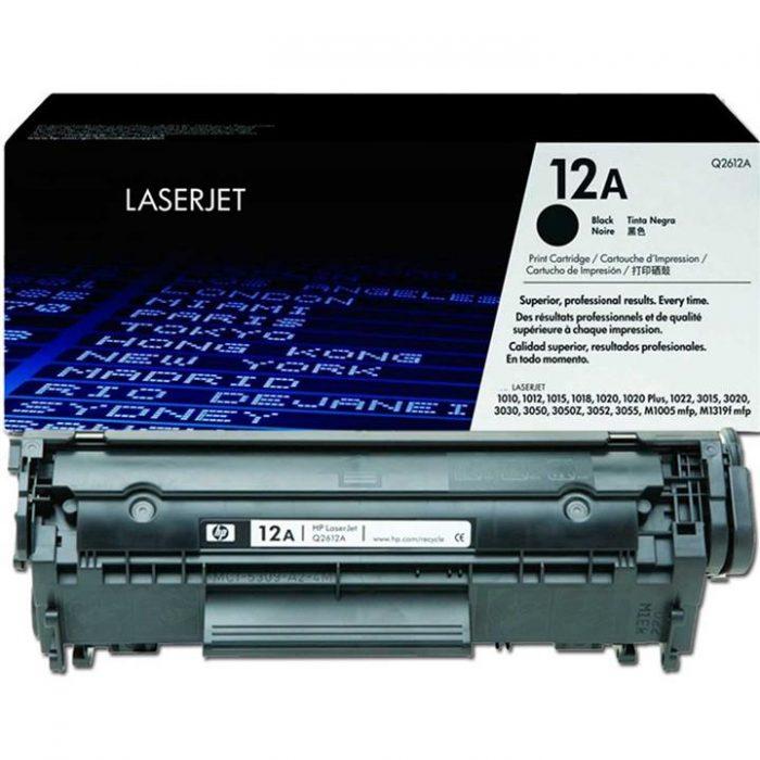 قیمت شارژ کارتریج لیزری hp 12A